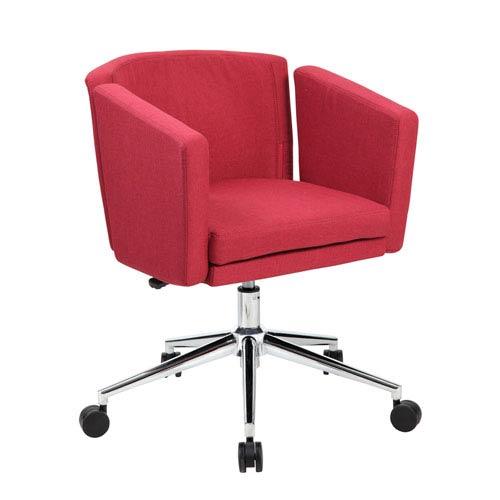 Boss Metro Club Desk Chair - Marsala Red