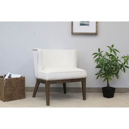 Boss Ava Accent Chair - White