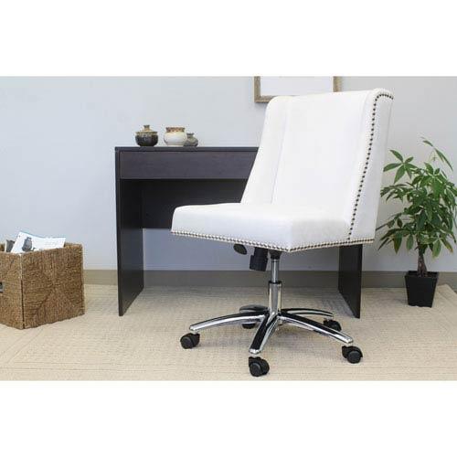 Boss Decorative Task Chair - White Velvet