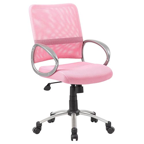 Rainbow Mesh Pink Task Chair with Loop Arms