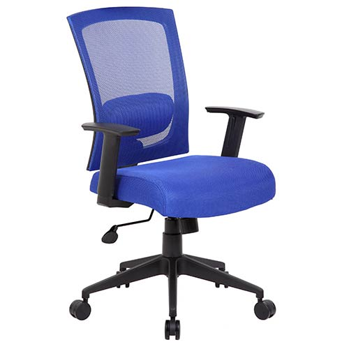 Rainbow Mesh Blue Task Chair