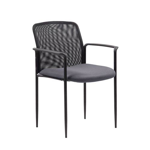Presidential Seating Boss Stackable Mesh Guest Chair - Grey