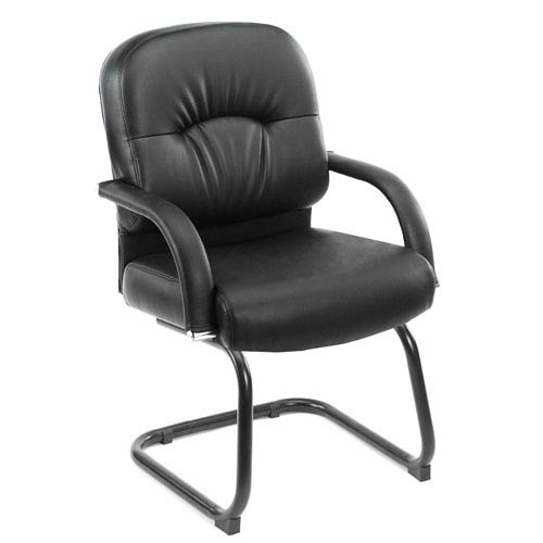 Presidential Seating Boss Mid Back Caressoft Guest Chair In Black