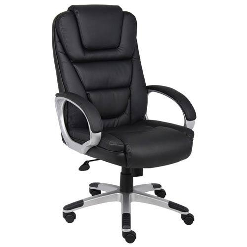Boss Executive LeatherPlus Chair with Knee Tilt