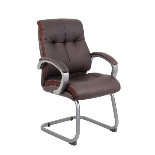 Boss Double Plush Executive Guest Chair - Bomber Brown
