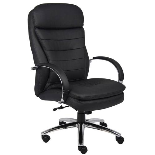 Boss High Back Caressoft Plus Exec Chair with Chrome Base and Knee Tilt