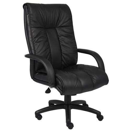 Boss Italian Leather High Back Executive Chair with Knee Tilt