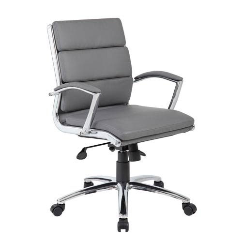 Boss Executive Caressoft Plus™ Chair with Metal Chrome Finish - Mid Back