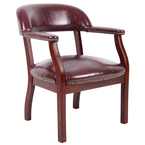 Presidential Seating Oxblood Captains Guest Arm Chair