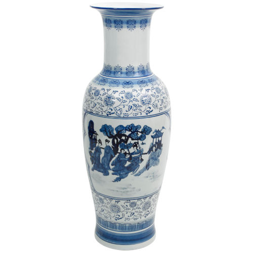 Blue and White Porcelain Tung Chi Vase
