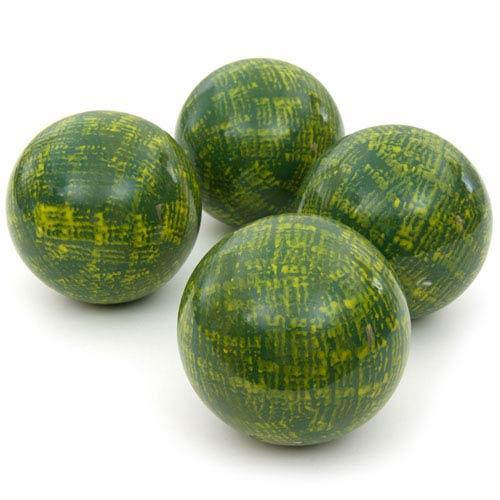 4-inch Green Porcelain Ball Set