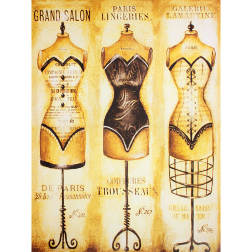 Haute Couture Dress Forms Wall Art