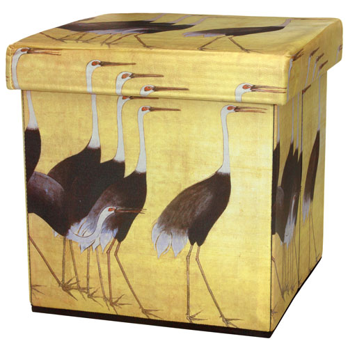 March of the Cranes Storage Ottoman