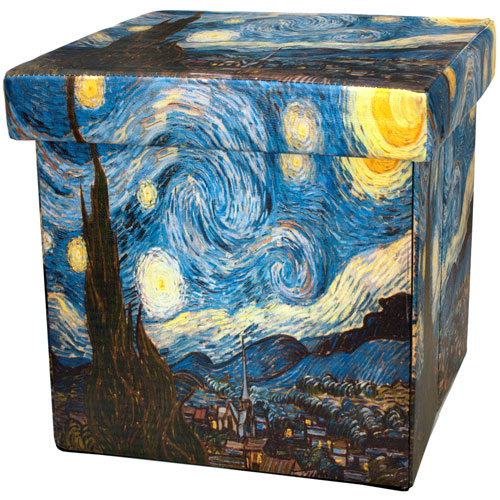 Van Gogh Starry Night Storage Ottoman