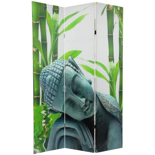 Oriental Furniture Six Ft Tall Double Sided Serenity Buddha Room