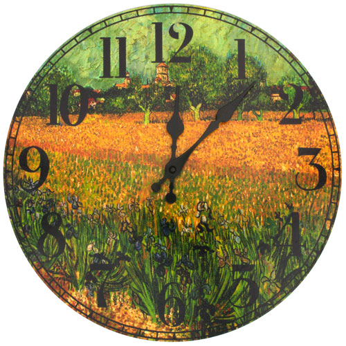 Van Gogh Field of Irises Wall Clock