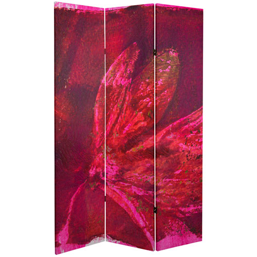 6-Foot Tall Double Sided Desire Canvas Room Divider