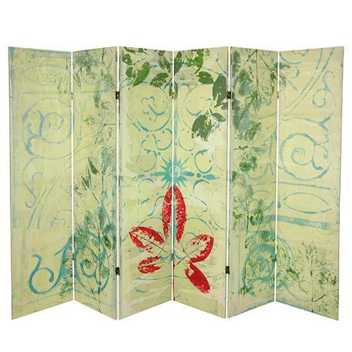 Garden Gate Multi-Colored 5.25 Ft. Canvas Room Divider