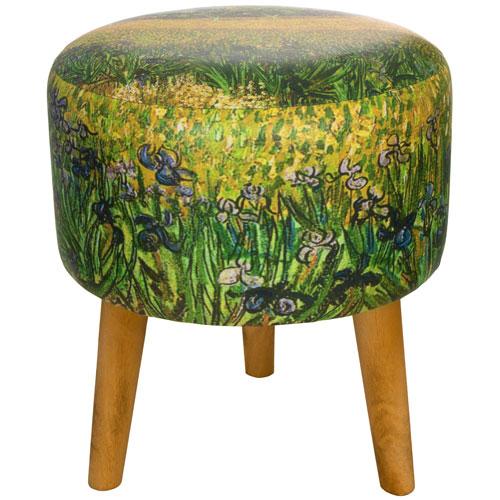 Oriental Furniture Van Gogh Irises Stool