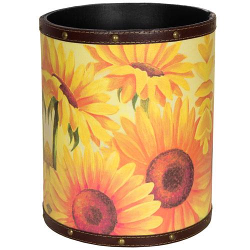 Sunflower Garden Waste Basket