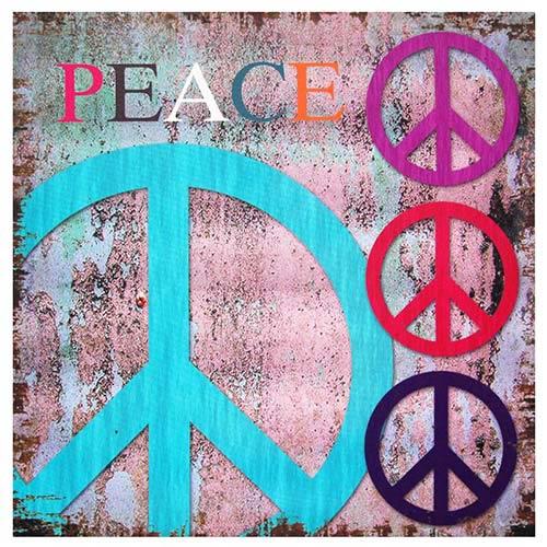 Peace: 19.75 x 19.75 Canvas Wall Art
