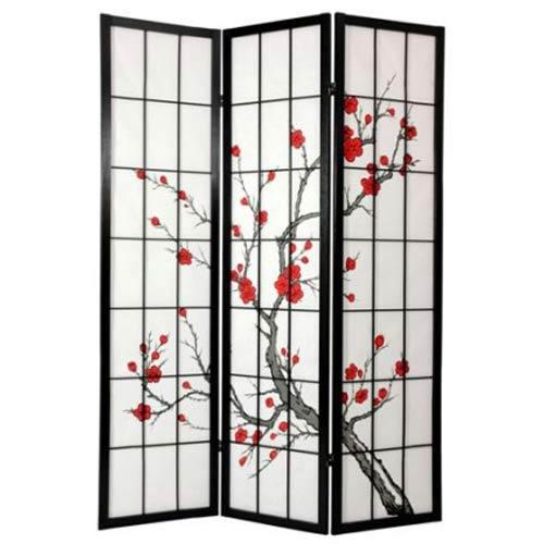 Oriental Furniture Cherry Blossom Shoji Screen