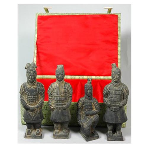 Grey Four Terra Cotta Warriors in Box