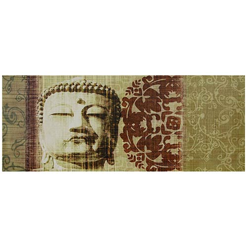 Oriental Furniture Buddha Bust: 39.25 x 15.75 Canvas Wall Art