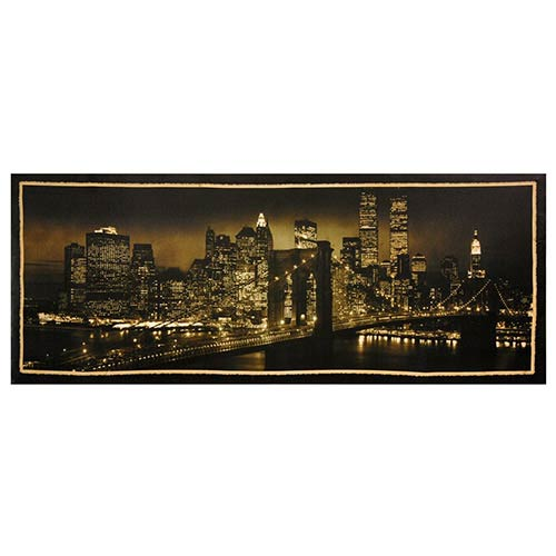New York Skyline: 39.5 x 15.75 Canvas Wall Art
