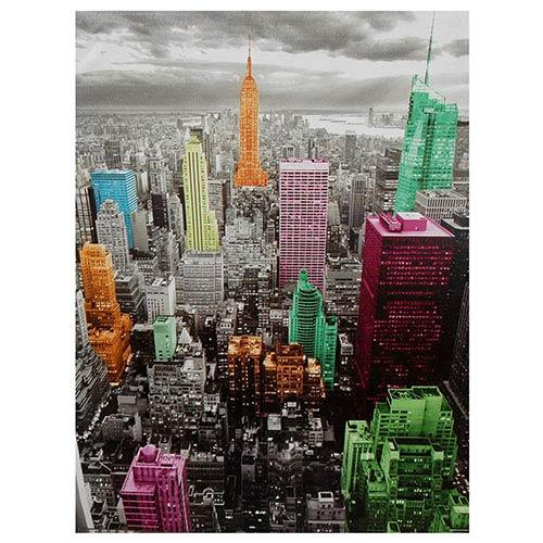 High-Lights of New York Skyline: 23.5 x 31.5 Canvas Wall Art