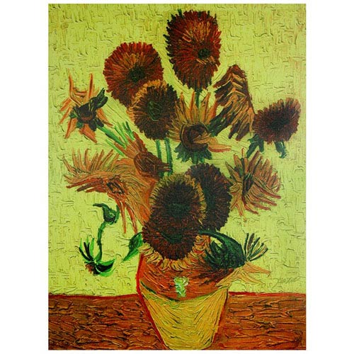Oriental Furniture Sunflowers: 23.5 x 31.5 Canvas Wall Art