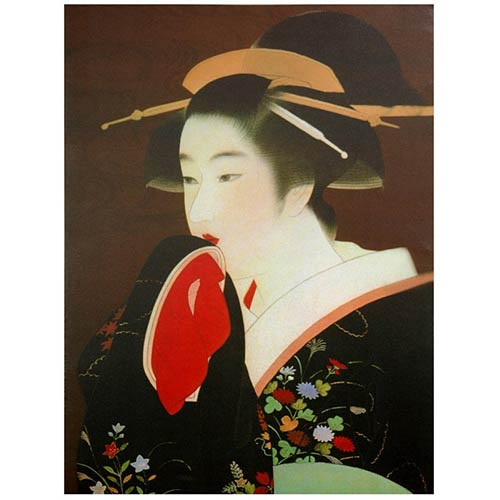 Oriental Furniture Geisha: 23.5 x 31.5 Canvas Wall Art