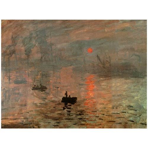 Impression Sunrise: 31.5 x 23.5 Canvas Wall Art