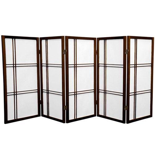 Oriental Furniture Three Ft. Tall Double Cross Shoji Screen, Width - 87.5 Inches