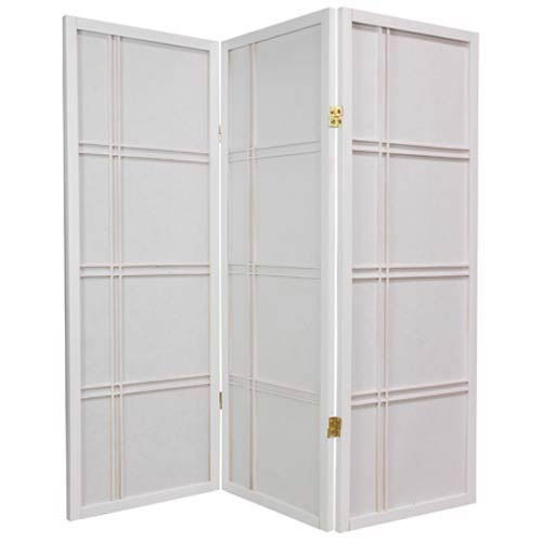 Oriental Furniture White 48-Inch Double Cross Shoji Screen