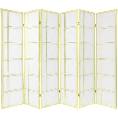Oriental Furniture Double Cross Shoji Screen - Special Edition , Width - 103.5 Inches