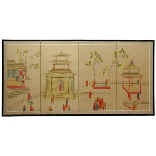 Enter The Pagoda Silk Screen