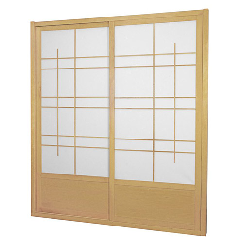 Natural Eudes Shoji Sliding Door Kit