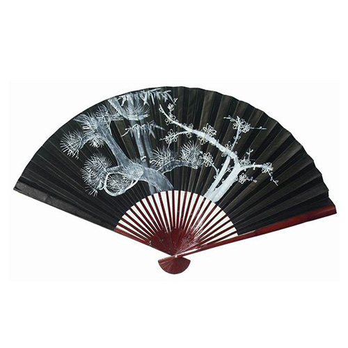 Black and White 35-Inch High Tree Decorative Wall Fan