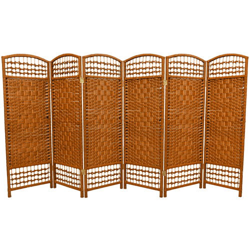 Oriental Furniture Four Ft Tall Fiber Weave Room Divider Width 96