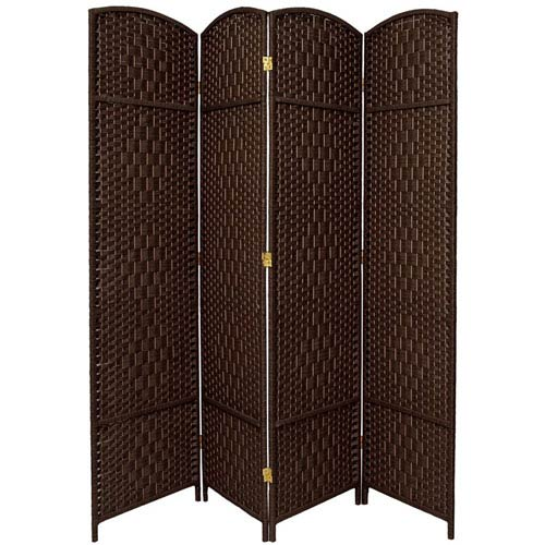 Oriental Furniture Seven Ft. Tall Diamond Weave Room Divider, Width - 79 Inches