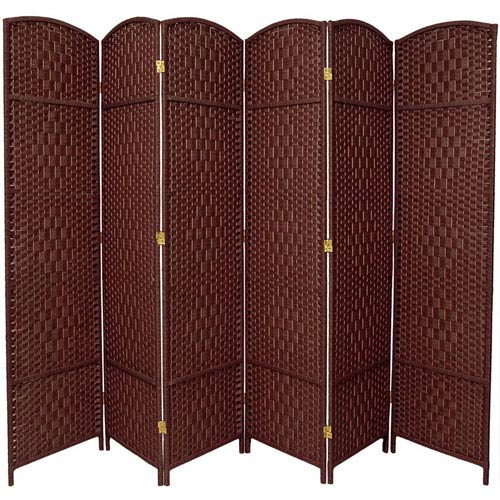 Seven Ft. Tall Diamond Weave Room Divider, Width - 118.5 Inches