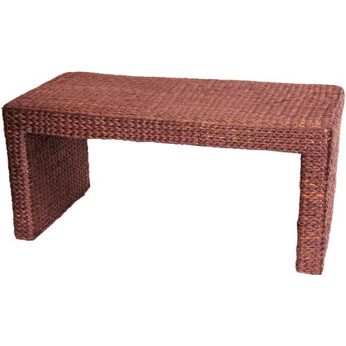 Rush Grass Coffee Table Red Brown, Width - 36.5 Inches