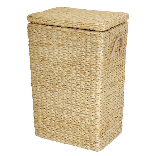 Rush Grass Laundry Basket Natural, Width - 11 Inches