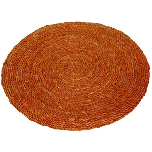 Brown Woven Round: 2 Ft Rug