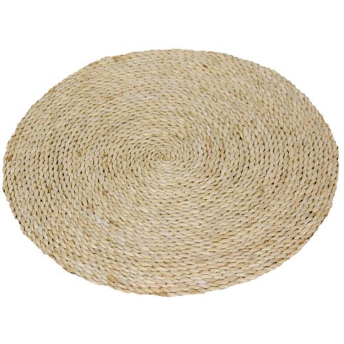 Natural Woven Round: 2 Ft Rug