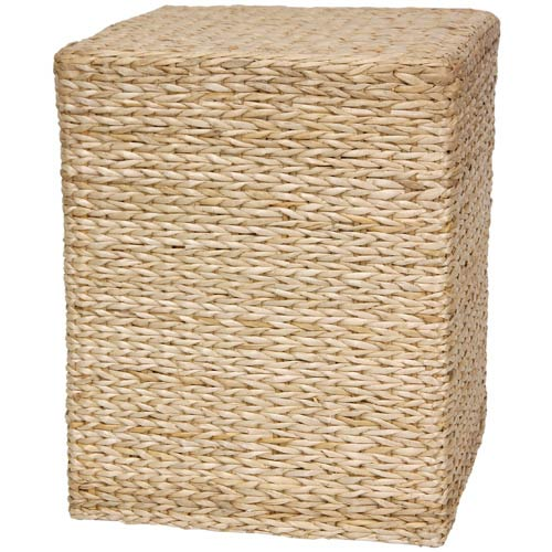 Rush Grass Square Coffee Table Natural, Width - 18.5 Inches