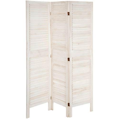 5 1/2 ft. Tall Modern Venetian Room Divider - 3 Panels - White