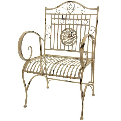 Rustic Garden Chair - Distressed White