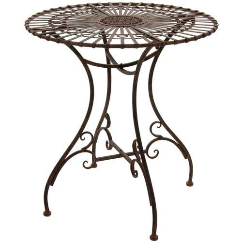 Rustic Garden Table - Rust Patina